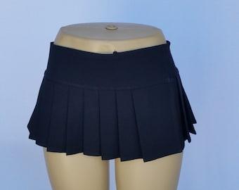 Black Spandex Micro Mini Skirt