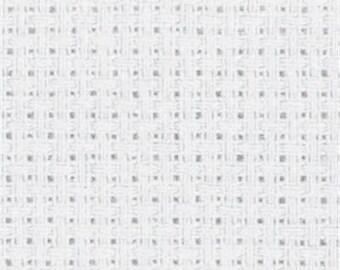 White DMC Aida 14ct, Sold per 4 inch / 10 cm Cross Stitch Fabric, 100% cotton, Embroidery Fabric White Aida Fabric Cotton Cross Stitch Aida