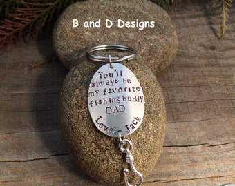 Perfect for Father of the Bride or Father of the Groom Personalized Fishing lure keychain