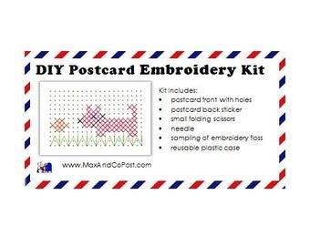 DIY Embroidery Postcard Kit