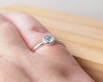 Aquamarine Ring - Aquamarine Sterling Silver Birthstone Ring - March Birthstone Jewellery  - Aquamarine Jewellery - March Birthday Gift