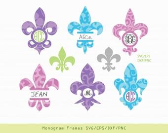 Fleur de lis SVG, Fleur de lis decal, Fleur de lis monogram, Fleur de lis stickers, svg files for cricut INSTANT DOWNLOAD - Royalty Free.