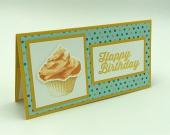 Stampin' Up' Birthday Card, Stampin Up Cards,  Money Holder Card, Check Holder Card, Gift Card Holder
