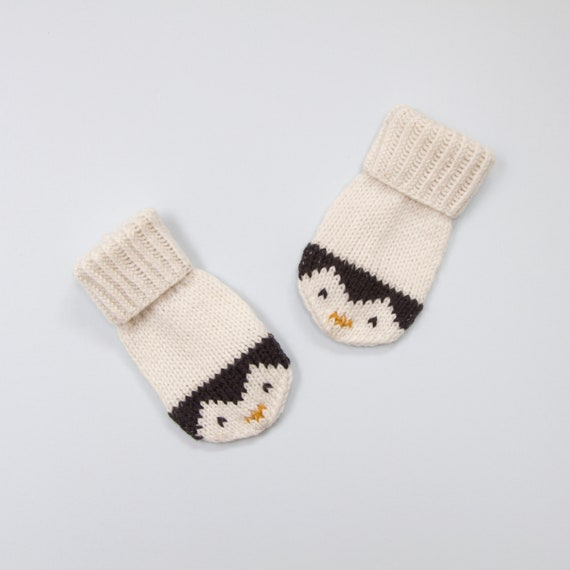 Baby And Toddler Mittens Knitting Pattern Penguin Mittens