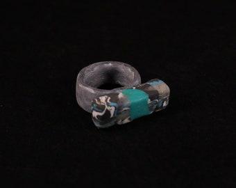 Blue|Grey|Black - Sculptured Ring