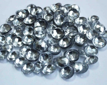 75 Round Dull Silver 3D Sequins/KBRS081