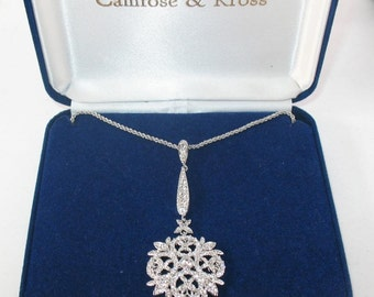 Jackie Kennedy Winter Crystal Necklace with Box and Certificate - TMS1