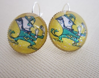 Notre Dame Fighting Irish Star Girl Earrings