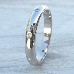 Diamond Eternity Ring, ethical 18k Gold, Handmade to Size