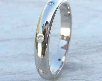 Diamond Eternity Ring, ethical 18k Gold, Handmade to Size