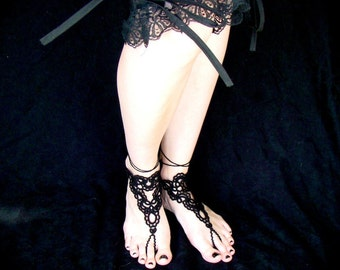Tatted Barefoot Sandals - Forever Scrolling