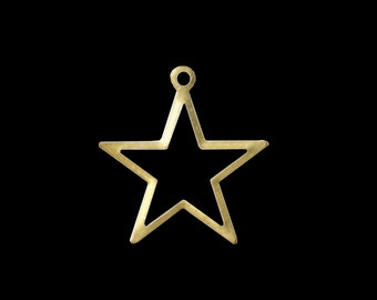 100 Pcs raw brass Star 24x23 mm raw brass Charms ,raw brass Findings 494R-40