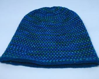 Hand Knit Reversible Hat / READY TO SHIP