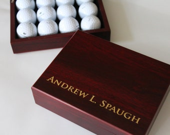 Golf gift for men, Personalized Cigar Box, Gift Box for Brother or Dad