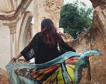 Butterfly scarf wings shawl fairy bohemian monarch dancing foulard