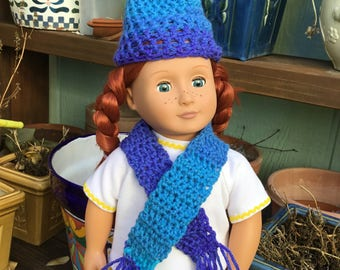 CROCHET TWO PIECE Set Fits American Girl and Other 18 Inch Dolls
