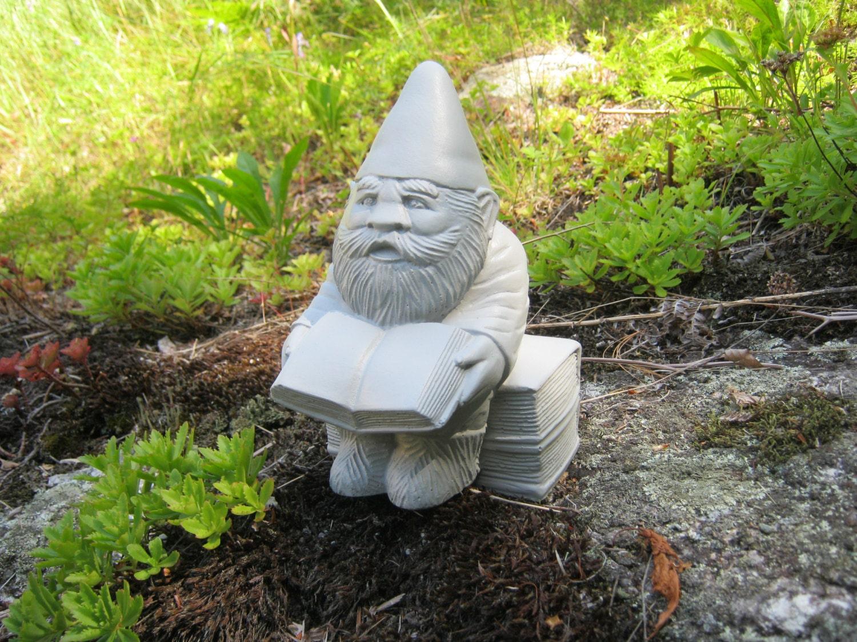 Gnome Garden Gnomes Gnewman The Bookworm Gnome Cement