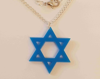 Star of David Necklace - Acrylic