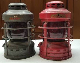 No. 25 Luck-E-Lite Truck Light Caboose Lanterns set of 2 Made by Albury, Warsaw NY