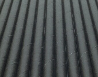 25 Black Paper Drinking Straws - Party Decor Supplies Tableware