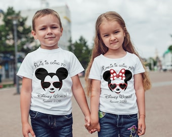 personalisedgoing to disney  T-Shirt, Childrens Toddlers T Shirt Top.