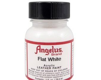 Flat White Angelus Acrylic Leather Paint 1 oz Bottle