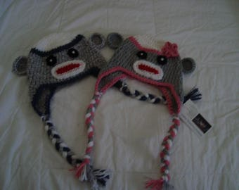 Crocheted Monkey Hats