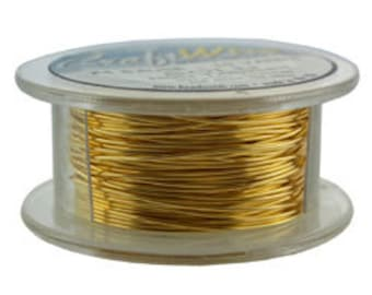 Craft Wire Tarnish Resistant Gold Round Wire 24ga 10yd (WR6724G)