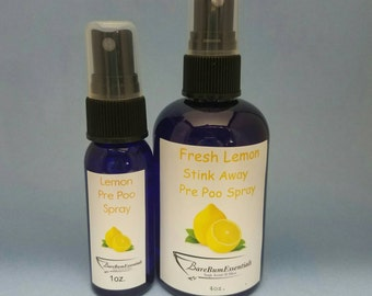 Lemon Stink Away Pre Poo Spray set, toilet spray, poop spray, poop pourri