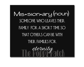 Missionary Definition LDS Mormon Printable Digital Download