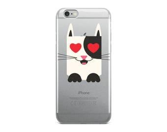 Cat Valentine's Day iPhone Case Kitty Valentine Gift iPhone Case