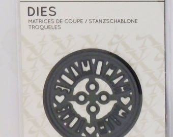 HANDMADE WITH LOVE   Die Cutting Stencil  Ideal for card makers  Round  50mm diameter