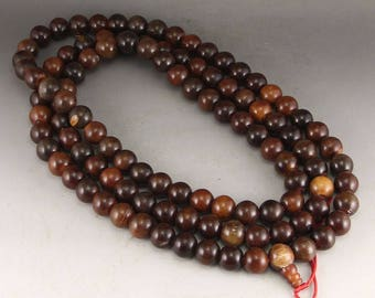 N4946 Vintage Chinese Ox Horn Beads Necklace