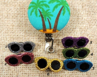 The Palm Tree at the Beach Retractable Badge Reel, Beach Badge Reel, Ocean badge reel, Sand & Surf Badge Reel, Sunglasses Badge Reel