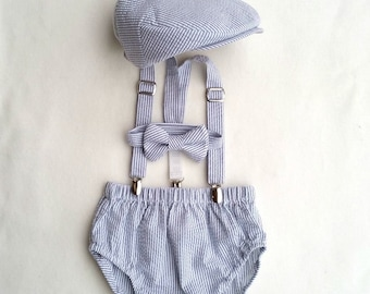 Baby Boy Outfit, Special Occasion Outfit, Baby Boy, Baby Boy Prop, Infant Photo Prop, Boys Photo Outfit, Cake Smash Outfit, Newsboy Set