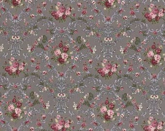 Rose Life Garden Taupe Floral Cotton Woven By Lecien Fabrics