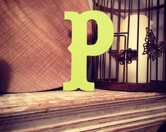Hand-painted Wooden Letter P -  Wall Letters - Circus Font - Various sizes, finishes and colours