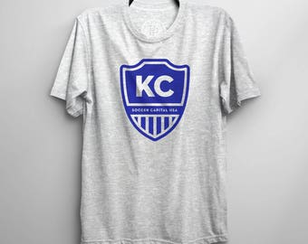 Kansas City SOCCER CAPITAL USA Soccer Graphic Tee