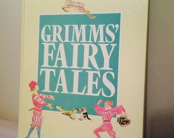 Vintage Grimms Fairy Tale Hard Cover Childrens Book