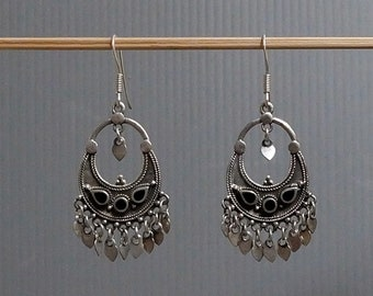 Sterling Silver Thai Dangle Earrings