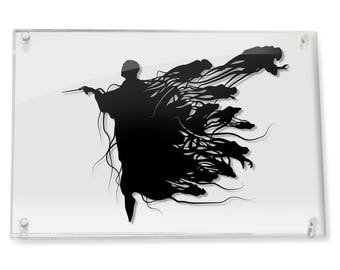 Lord Voldemort Dementors Harry Potter gift Dark lord Deathly Hollows Tom Riddle Dark Mark Death eaters Dark Magic Art villain FRAMED