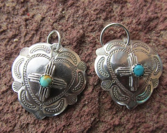 New Mexico Zia Heart Concho Sterling Silver Pendant Cowgirl Necklace