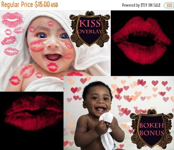 ON SALE Transparent PNG Photography Kiss overlay Valentine Baby Romantic  Love overlays Lipstick photo Kisses Kissing Lips newborn