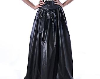 Maxi skirt/ Long black skirt/Plus size skirt/High waist skirt/Plus size clothing/Plus size skirt