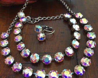 Aurora Borealis Swarovski Crystal Jewelry Set