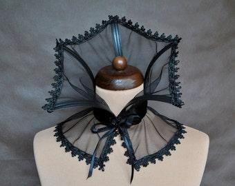 Elegant GOTHIC CHOKER GORGET mist vampire costume Glamour, collar black,  beautiful adornment, Halloween, witch, prom