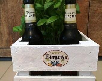 Gifts for men, beer garden, bottle cage, crate, wooden crate, gift box, men's gift, bottle rack, wooden shelf, gift basket