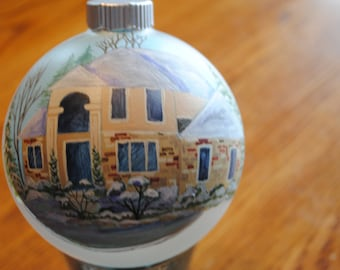 Custom Home Ornament of Past Memories done from pictures - SAMPLE SOLD
