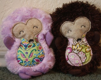 Personalized plush hedgehog toy.  Baby Safe! - 3 sizes available!