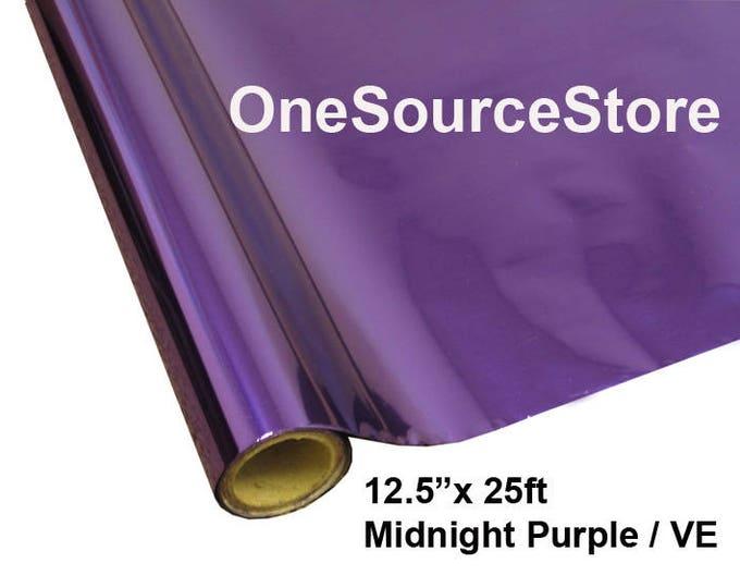 """HTV Textile Foil* / 12.5 """"x 25 ft / Midnight Purple / VE"""